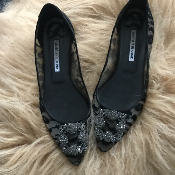 369b8d79cbc7 Hangisi Jeweled Lace Ballet Flat. M 5af5bb4ad39ca297892f5985